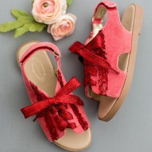 Joyfolie Tessa Red Sequin Sandals 12